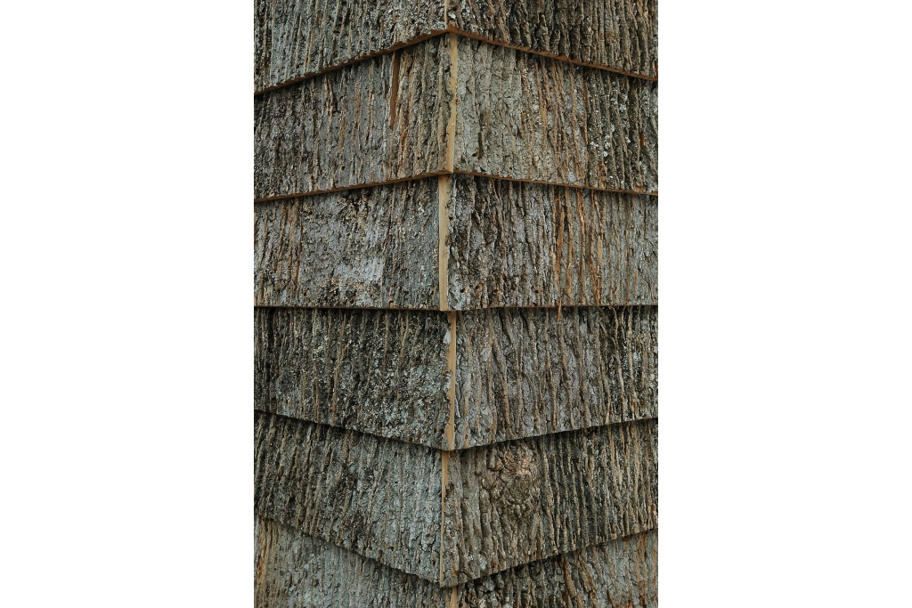 Bark House Brand Poplar Shingle Siding And Wall Covering